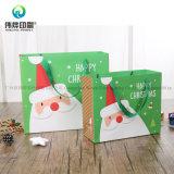 Saco de papel de empacotamento do presente feito sob encomenda do Natal da alta qualidade