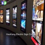 LED 액자 메뉴 널 광고를 위한 알루미늄 Backlit 가벼운 상자 표시