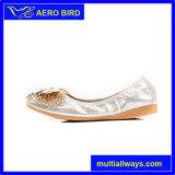 Las abejas Rhinestion brillante estilo de mujer zapatos planos