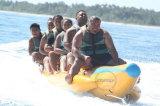 高品質膨脹可能な水ゲームは販売のためのバナナボートを毛鉤で釣る
