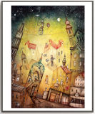 Картина диаманта украшения 5D стены комнаты детей с деревянной рамкой