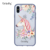 Pink Unicorn Flowers Printed Translucent Hybrid Protective Software TPU Bumper Puts Hardware Back Cover for APPLE iPhone X