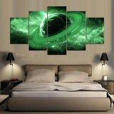 惑星の宇宙概要の絵画を切る5パネル