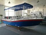barca di trasporto del peschereccio della vetroresina di 5.8m con i motori esterni