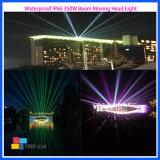 단계 LED 350W 광속 이동하는 헤드 DJ 아키텍쳐 건물 빛