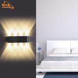 Lámpara de pared al aire libre ligera de la luz ámbar 8W LED de la buena calidad