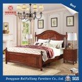 Руи Фу Xiang размера кинг Браун стиль экологически чистые деревянные кровати с SGS сертификат (B230)