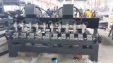 6 cabezales de gran tamaño Rotary Router CNC máquina para trabajar la madera con el Gantry Mover