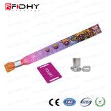 Wristband tejido RFID de la tela de la impresión para la Navidad