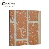 Het vuurvaste Decoratieve Opruimen van de Muur van het Cement van de Vezel Buiten