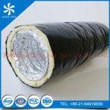 Feuerbeständige Fiberglas-Isolierungs-flexible Aluminiumleitung (Alu duct+Black PET-Film)