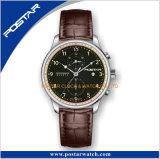 Het Zwitserse Horloge Van uitstekende kwaliteit van het Kwarts van de Chronograaf Waterdichte Multifunctionele