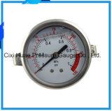 オイルの満たされ、縁を付けられたステンレス鋼の圧力計