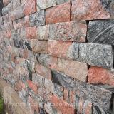 中国Juparanaの赤い花こう岩の壁の正面の花こう岩の壁のクラッディング
