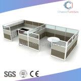 Oficina del Proyecto de estación de trabajo en forma de L con el Gabinete (CAS-W31435)