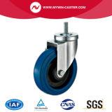 4 des Bremse verlegten Stamm-blauen Elastizität-Europa-Zoll Typ-industrielle Fußrollen