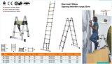 3,8 millones de alta calidad de la escalera telescópica de aluminio con bisagra