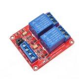 5V/12V/24V 2チャネルのリレーモジュールSupporttheの高く、低レベルのトリガー(赤いボード)