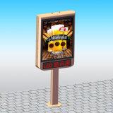 Doppeltes versah mit Seiten, im Freien wasserdichte Verschieben- der Bildschirmanzeigeanschlagtafel bekanntmachend mit LED-Bildschirm