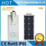 Tous dans un réverbère solaire Integrated de l'éclairage 15W DEL