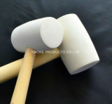 Белый цвет резиновым молотком с деревянной ручкой в ручных инструментов Rha-1