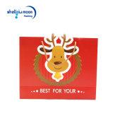 Le renne rouge de Noël de vente chaude faite sur commande met en sac le sac de papier de cadeau