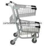 Американский стиль две корзины супермаркет корзина с детского сиденья