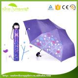 Зонтик бутылки воды промотирования самые дешевые 3 складывая Shenzhen