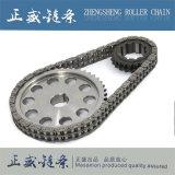 Doppie catena del rullo del passo e catena di convogliatore dell'azionamento della ruota dentata