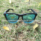 Tendência quente óculos de sol polarizados do espelho da forma do frame do PC da lente do Tac