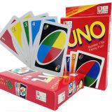 El Uno de los juegos de mesa de Hotsale carda con Uno Papercard de la insignia