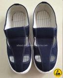 PVC PU Spuの唯一のクリーンルームESDの帯電防止キャンバス、PUの革4穴の靴