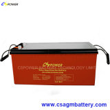 Batterie 12V200ah de gel de longue vie pour le contrôleur de panneau solaire/chargeur
