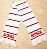 Écharpe tricotée du football d'écharpe du football de polyester