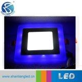 9W Multicolor ronde luminaires LED pour panneau encastré