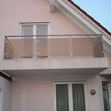 Balaustrada do aço inoxidável de projeto moderno para os trilhos de vidro