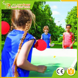 Caoutchouc spongieux mou réglé en gros de ping-pong - paquet de 4 palettes/raquettes de la meilleure qualité et de 6 billes de ping-pong -