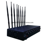 emittente di disturbo impermeabile registrabile per Cellular/GPS/WiFi, del segnale dell'emittente di disturbo dell'esame dell'emittente di disturbo del banco di potere medio di potere 8CH emittente di disturbo 5g
