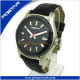 Logotipo personalizado fabricante marca OEM Sport Men's Watch de cuero con alta calidad