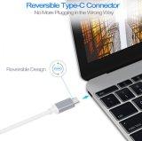 O USB datilografa o cubo de alumínio do adaptador da carcaça da rede de Gibabit do Ethernet C a RJ45 para o PC