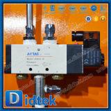 Valvola a saracinesca professionale della flangia del fornitore di Didtek Cina con pneumatico