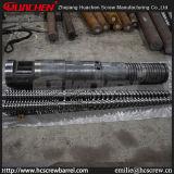 80/156 à double vis conique baril pour le PE/Ligne/La production de PP/bimétalliques nitruration/pièces de rechange