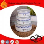 De hete Kom Van uitstekende kwaliteit van het Voedsel van het Email van de Verkoop met Mooi Overdrukplaatje