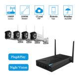 4CH 1080P KIT DE SEGURIDAD CCTV IP Wi-Fi Wireless NVR de cámara de sistema Plug-and-Play HDMI VGA