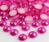 試供品の緩いABS半分の切口は真珠で飾るDIYの装飾(NR-10)のためのFlatbackのプラスチック半分の円形の真珠を