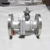 Cast Stainless Steel Hard Seal Flange End 2PC Ball Valve