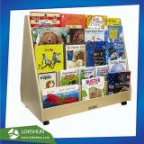 Custom Made 5 rotatif-Tyrer Rack d'affichage en bois pour les livres, présentoir, Pop étagère