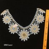 garniture de lacet de collier de tournesol d'or de 38*26cm pour Madame Garment Hme923