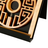 주문을 받아서 만들어진 목제 기념 패킹 전시 포장 동전 상자