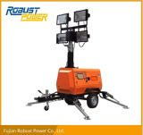 12.8kVA/Kw Hydraulic Light Tower generator Lamp Kubota Diesel portable Lighting plans